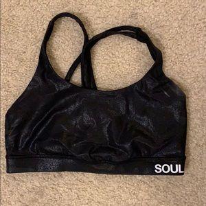 Lululemon soul cycle black sports bra size 8